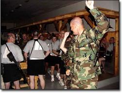 Army Conga Line in Bosnia
