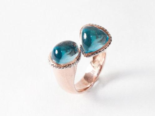 Blue Topaz Ruffle Ring