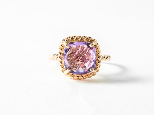 Amethyst Liana Ring in 18k rose gold