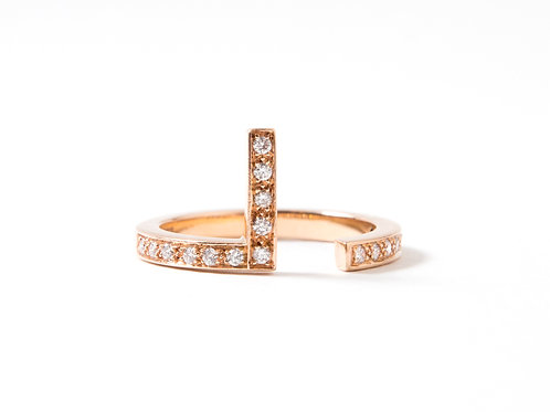 Puzzle L Ring in 18k rose gold