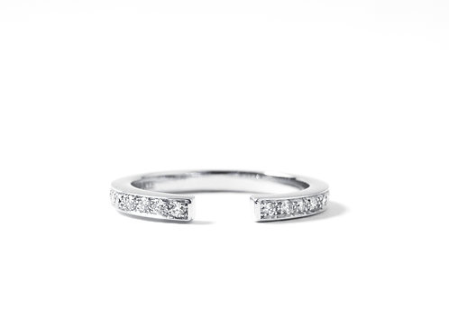 Puzzle Ring in 18k white gold