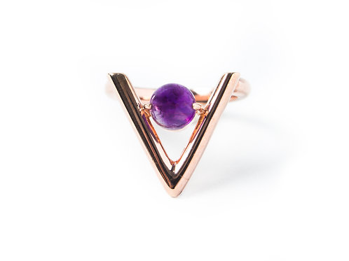 Vitto Ring in rose gold