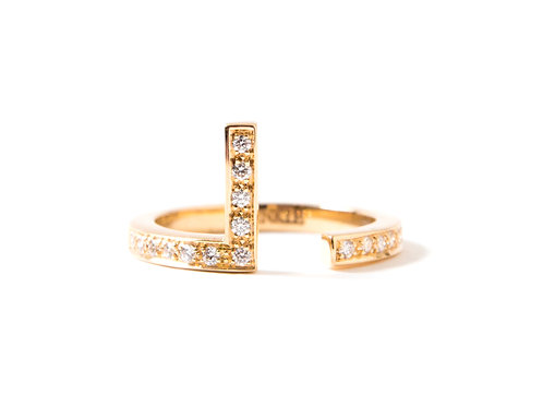 Puzzle L Ring in 18k yellow gold