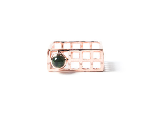 Mini Nido Ring in rose gold with tourmaline