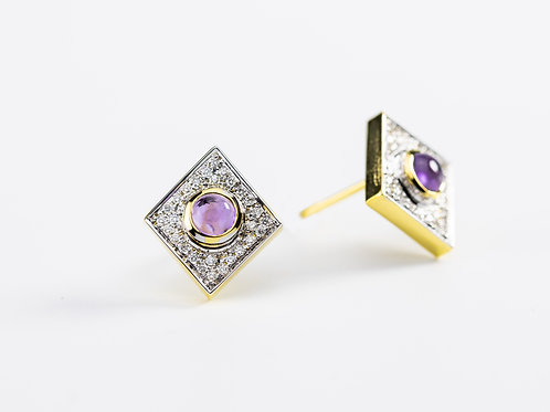 Amethyst Akka Earrings