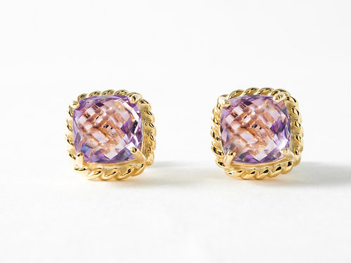 Amethyst Liana Earrings in 18k yellow gold