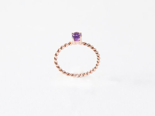 Cabochon The Series Ring in 18k rose gold