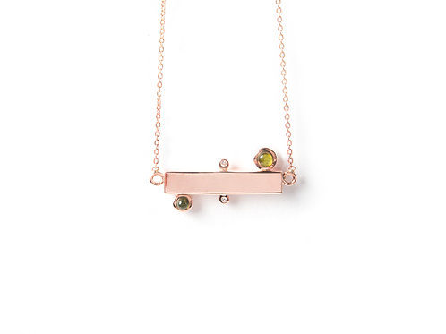 Bar Necklace in rose gold