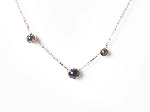 Lucia Necklace in rose gold