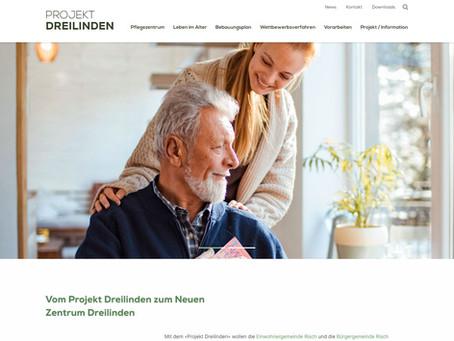 Neues Zentrum Dreilinden: neue Website www.projekt-dreilinden.ch