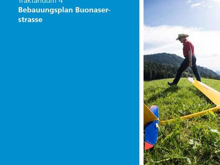 Gemeindeversammlung Risch genehmigt Bebauungsplan Buonaserstrasse