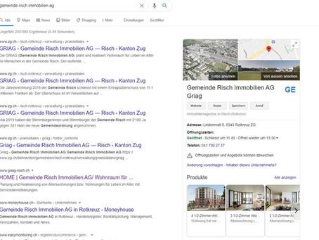 Griag ist neu auf Google besser zu finden