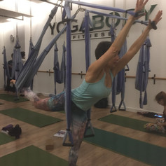 Yoga Trapeze in Barcelona... love it!
