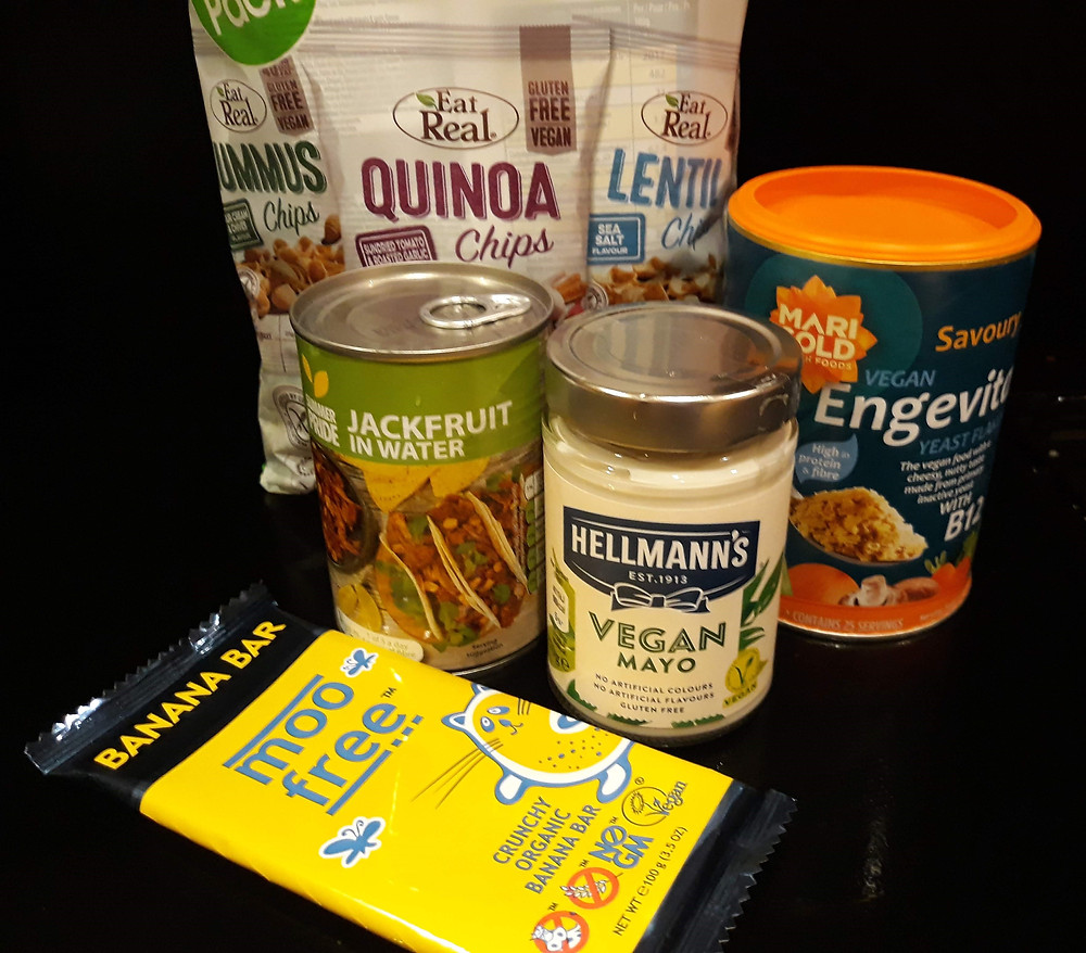 A few of the items I swooped on during Aldi's Veganuary promotions