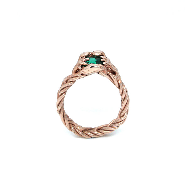 Swallowing Emerald Ring