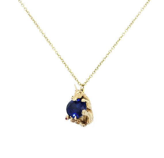 Falling Unicorn Necklace