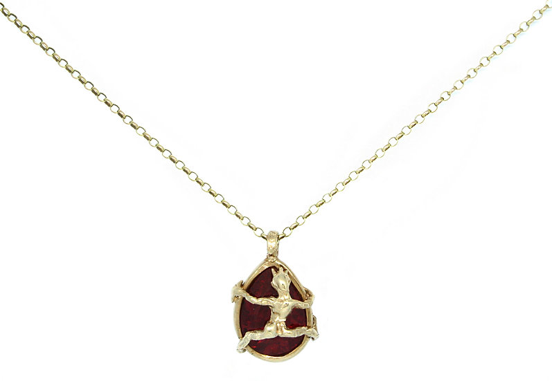 Clutching Ruby Pendant