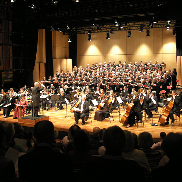 Singing at the Queen Elizabeth Hall, London, 2009