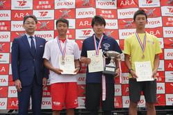 19中日本レガッタ_高校男子1X表彰式