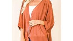 Shoulder pleated Kimono Cardigan