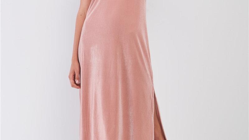 Velvet blush dress