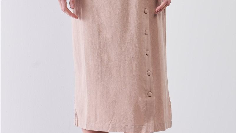 Mid length Nude skirt