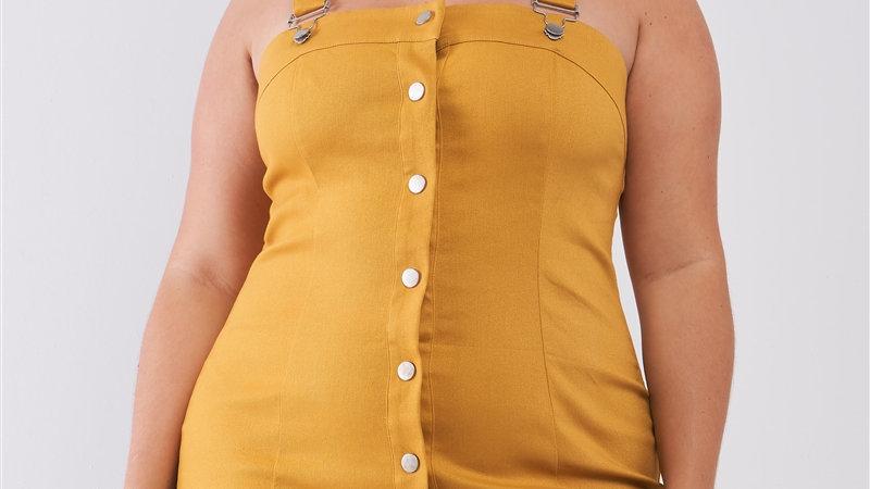 Denim Front Snap Button Dress