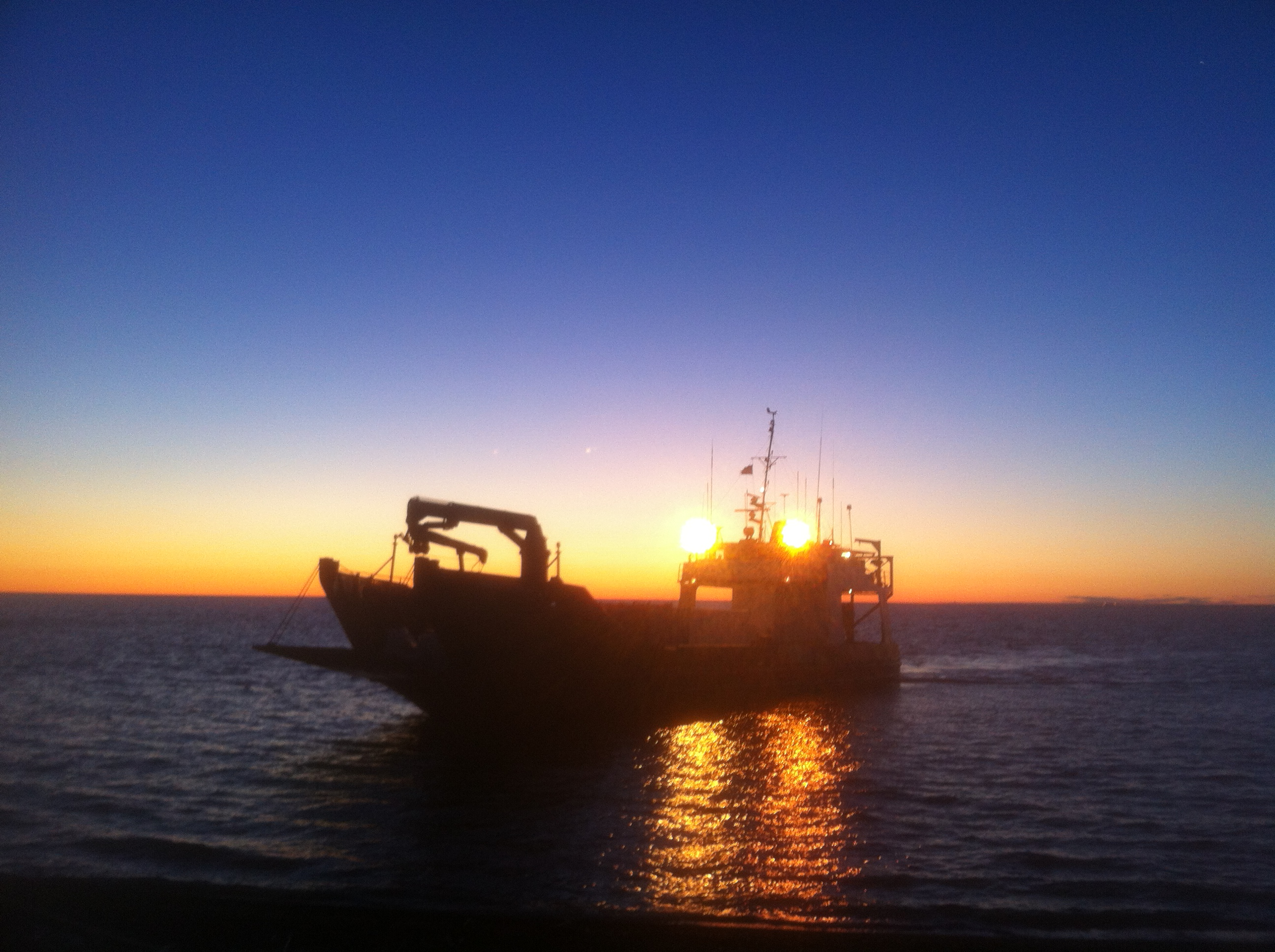 Landing Craft at Sunset