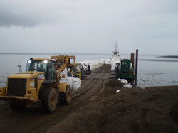 Loading Barge on Shore