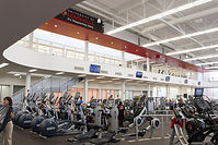 Workout machines in the University of Louisville Student Recreation Center
