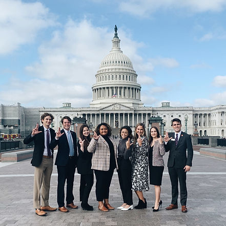 Members of SGA Executive Branch in front of the Capitol Building in Washington D.C.