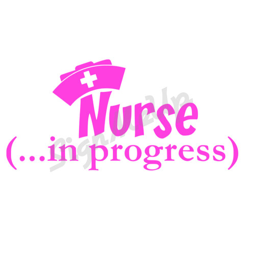 nurse in progress decal 9 sticker for car truck boat laptop med