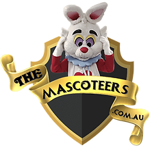 White Rabbit Mascot Hire Brisbane Easter