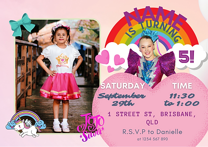 Jojo party Invitation