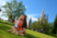 Moana at Disney Castle