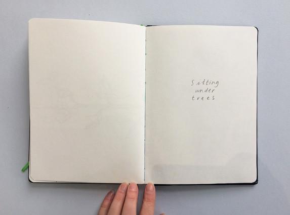Text in Sketchbook by Jo Blaker