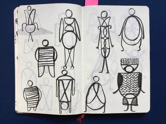 Visualisation Sketches in Sketchbook by Jo Blaker