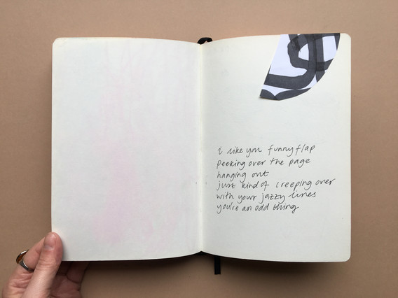 Collage & Text in Sketchbook by Jo Blaker