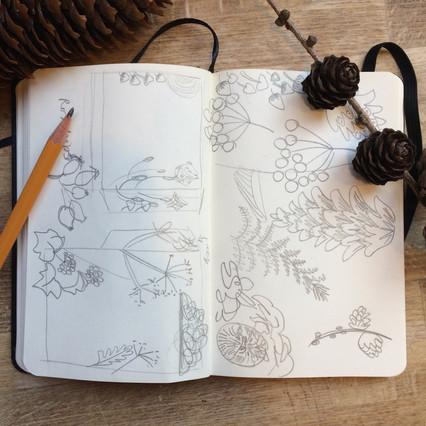 Window Illustration Development in Sketchbook by Jo Blaker