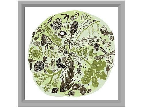 Green Time Art Print