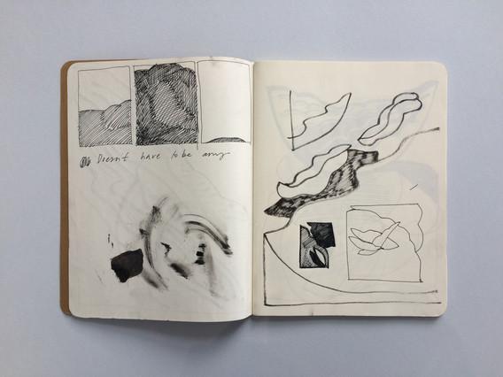 Artwork Development Sketch in Sketchbook by Jo Blaker