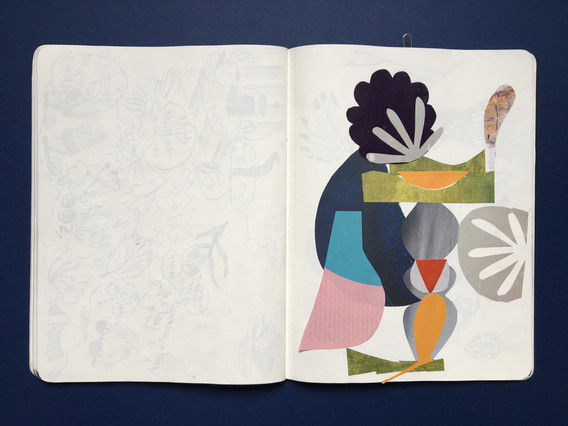 Collage - Sketchbook page by Jo Blaker