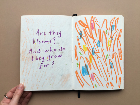 Oil Pastel Exploration in Sketchbook by Jo Blaker