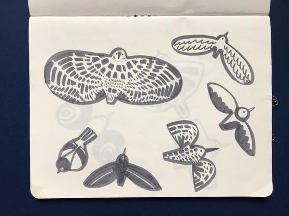 Motif Exploration in Sketchbook by Jo Blaker