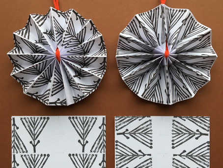 *New* Patterned Paper Decorations - download & postal packs