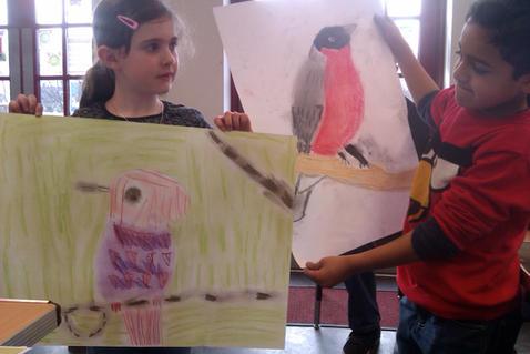 Garden Birds at Greenhead Park Art Club
