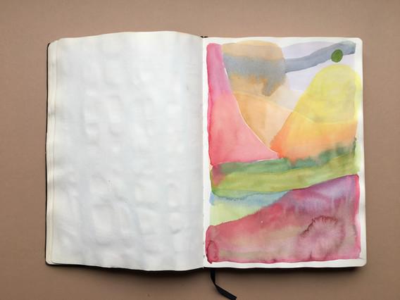 Watercolour Exploration in Sketchbook by Jo Blaker