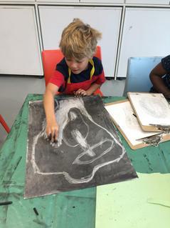 Children's Reductive Sculpture Drawing