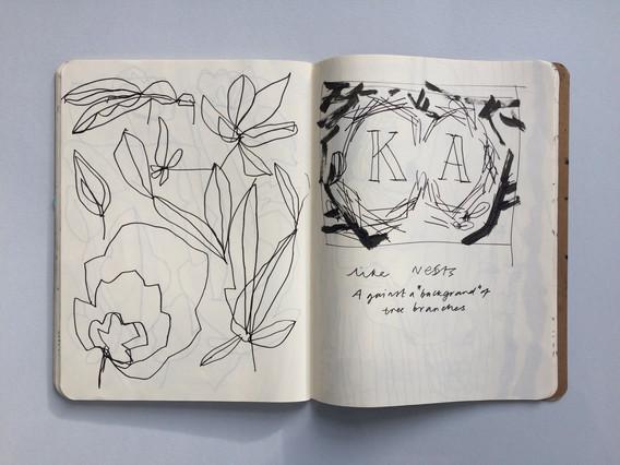Bespoke Illustration Sketch in Sketchbook by Jo Blaker