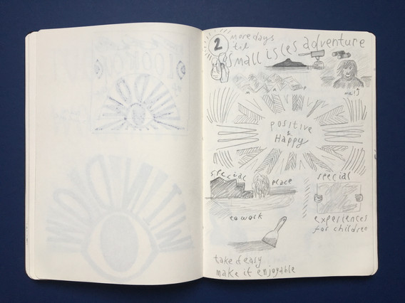 Pencil Personal Reflection Sketchbook Drawing by Jo Blaker